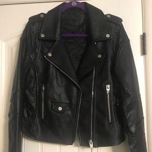 Blank NYC faux leather moto jacket, NWT